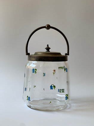 Glass Painted With Enamel, Lidded Jar