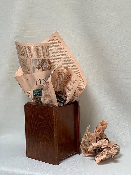 Small Art Deco Waste Paper Bin