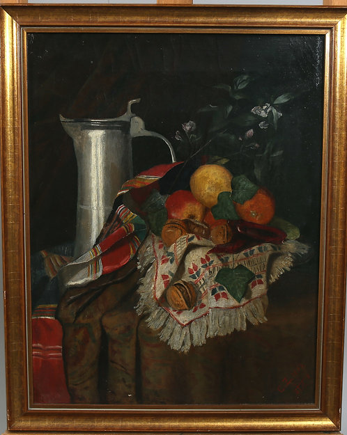Still Life by Unknown Artist, signed CZ, dated 1884