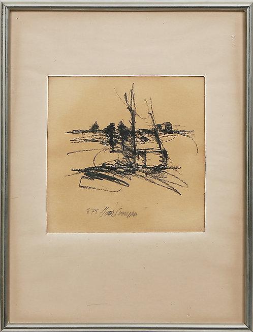 Framed Drawing by Hans Svensson.