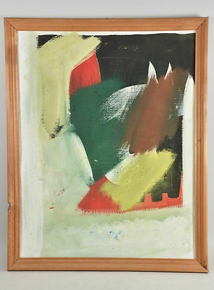 20th Century Abstract Painting, Unknown Artist