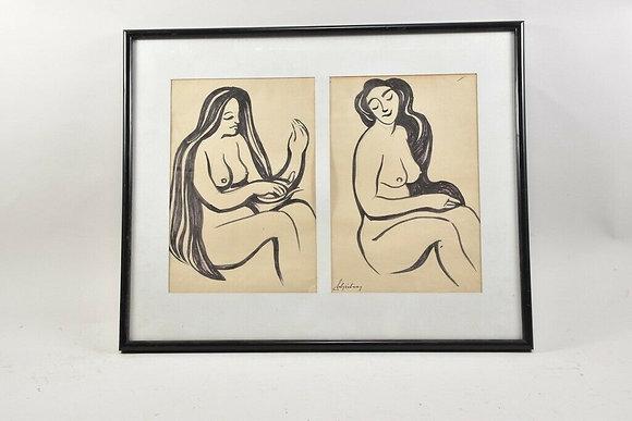Drawing by Franz Schickler (1915-2010)