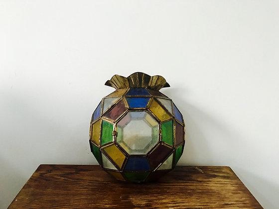 Glass and Brass Light Fitting