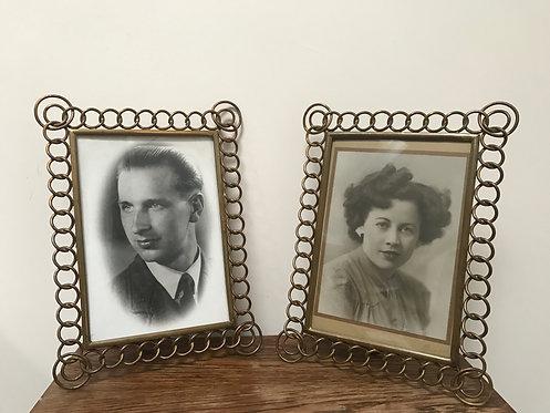 Pair of Brass Matching Frames