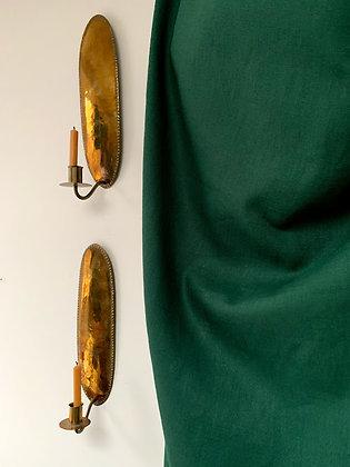 Late 19th Century Brass Sconces