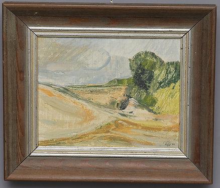 Framed Mid Century Oil, Unknown Artist, German