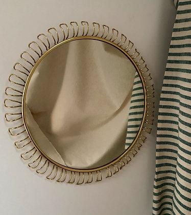 Loop Brass Mirror, 1950s