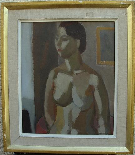 Framed Oil, Portrait, by Magnus Creutz