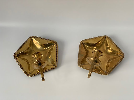 Pair of Star Shaped Sconces, Swedish , 20th Century