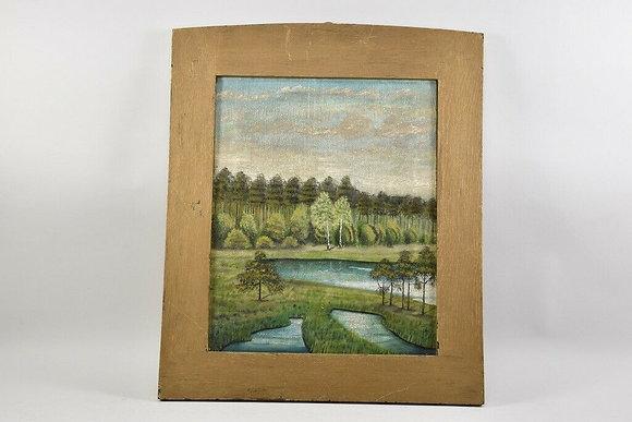 Painting, landscape, sign. E. Finger, dat. 1913