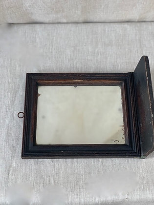 1920s Wooden Shelf Mirror