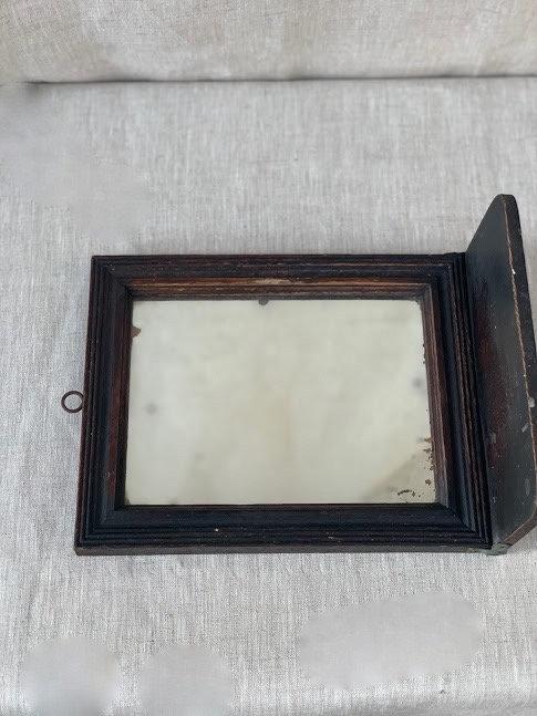 1920s Wooden Shelf Mirror