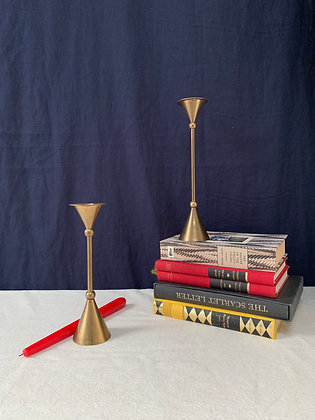 Pair of Vintage Brass Candlesticks