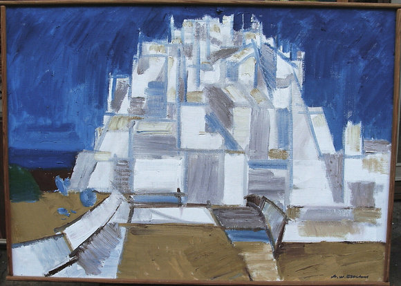 """Axel Werner Ekelund 1919-1989, """"Building composition, around 1970/80"""