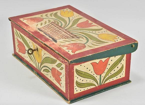Folk Art Painted Box, German