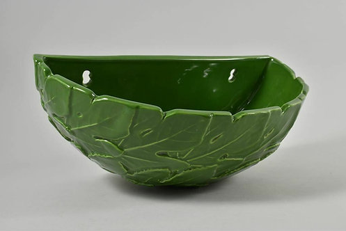 Wall Bowl, Ceramic Leaves, 70s
