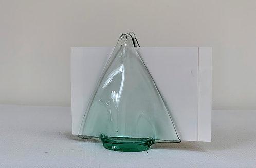 Mid Century Glass Letter Holder