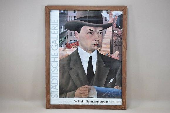 Framed Poster Wilhelm Schnarrenberger