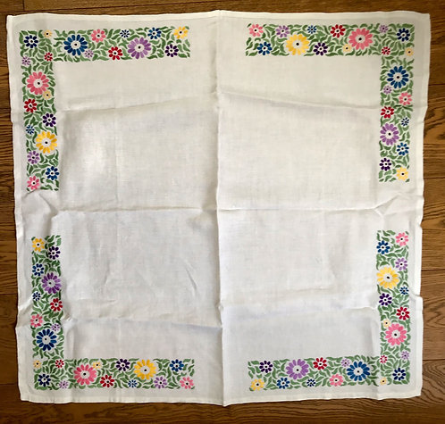 Small Floral Embroidered Tablecloth