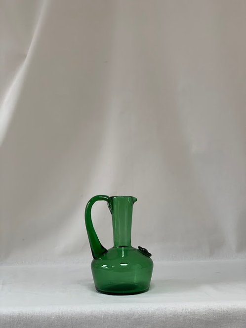 Victorian Green Glass Pontiled Jug
