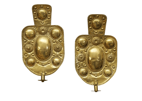 Early 20th Century Swedish Sconces, Brass