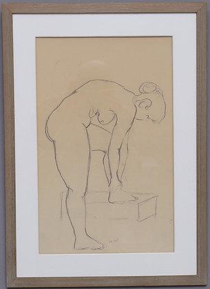 Framed 20th Century Drawing, Artist Unknown, Swedish.