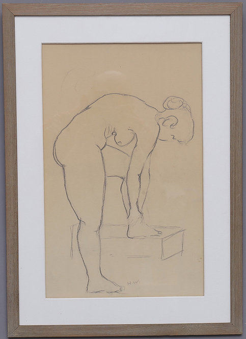 Framed 20th Century Drawing, Artist Unknown, Swedish.