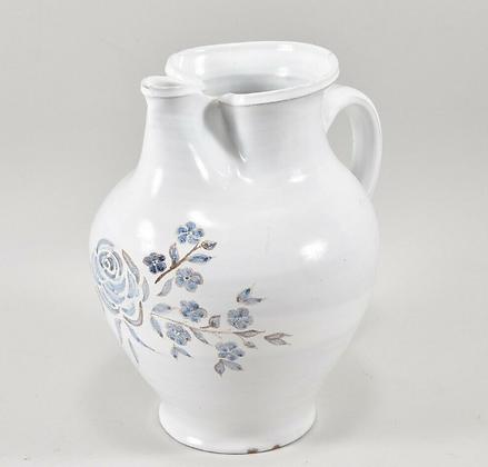 Ceramic hand-painted jug