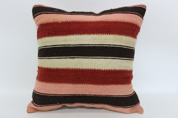 Pink and Red Kilim Cushion