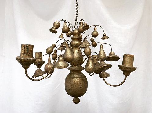Unusual Wooden Chandelier, 19th Century