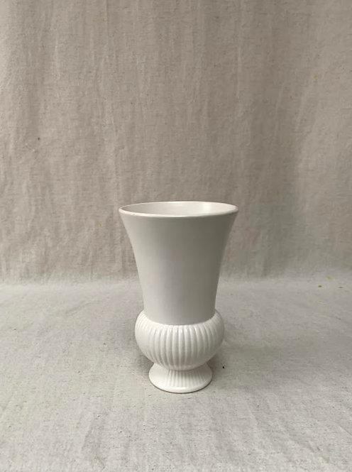 Wedgwood Cream Ribbed Vase