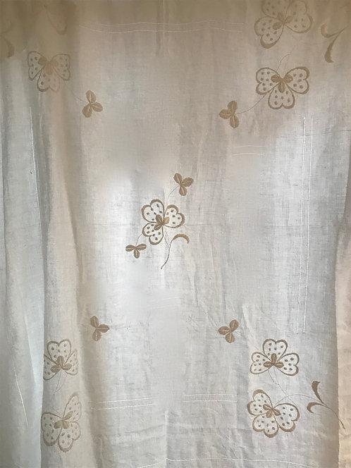 Antique White Irish Linen Bedspread