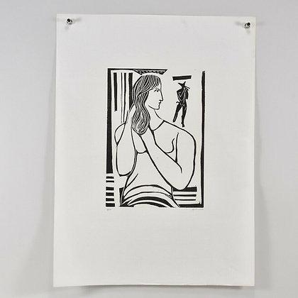 Linocut, handsigned Gustav GRUND (1912-1995), dated 1960