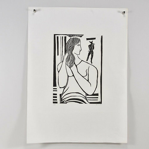Linocut, handsigned Gustav GRUND (1912-1995), dated 1960
