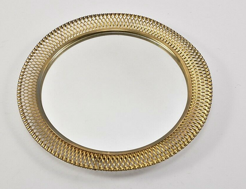 1970s Mirror With Brass Frame