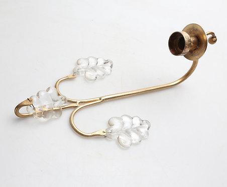 Brass & Glass Sconce by Boda Smide in Sweden.