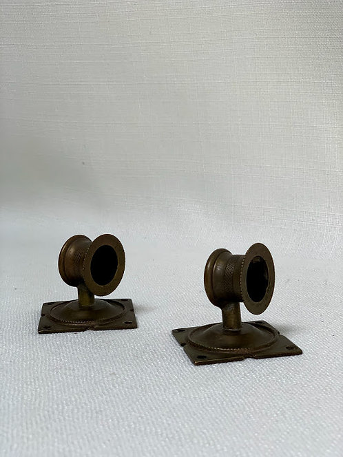Pair of Small Victorian Brass Sconces