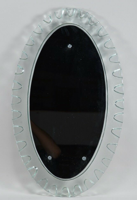 Mid Century Mirror With Thick Glass Frame