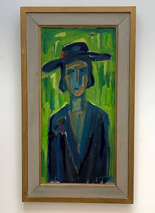 Lady In Hat by Bengt Aberg
