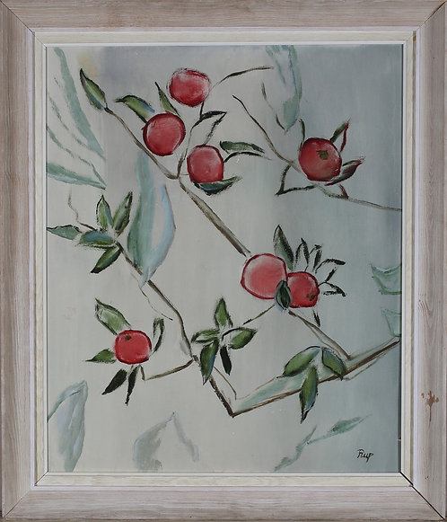 Apple & Twigs, Artist Unknown, 20th Century