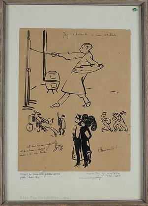 Artist, Yngve Berg, Framed Letter Home