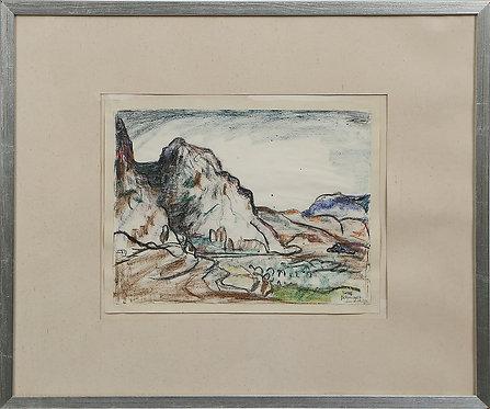 Pastel Drawing by Einar Forseth