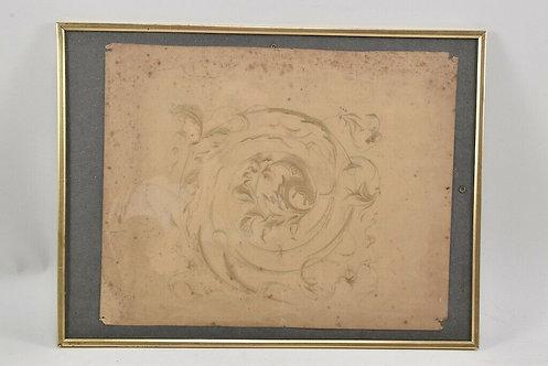 Pencil drawing, 18th Century Ornament Design