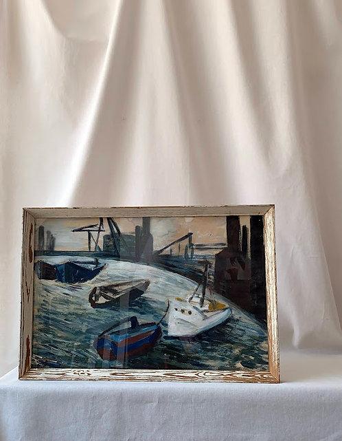 Harbour Scene - Framed
