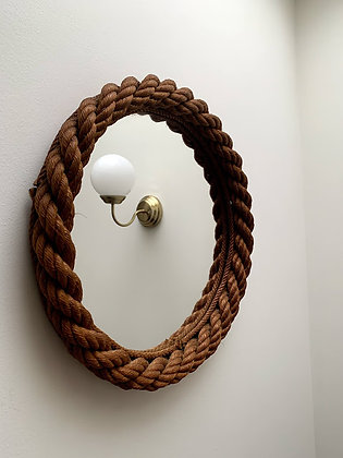 Beautiful Mid Century Rope Mirror