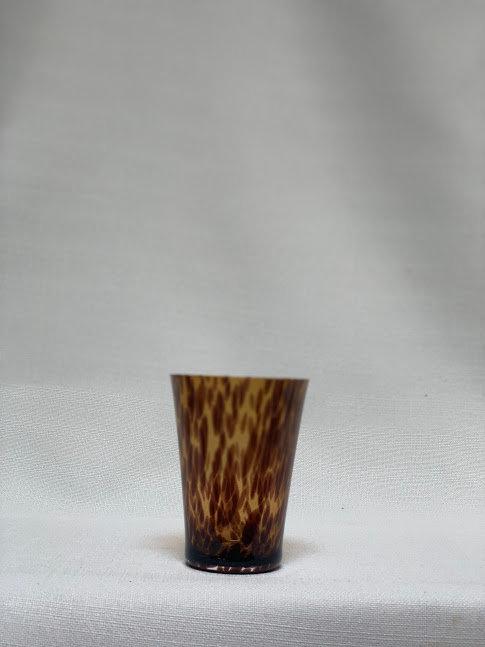 Mid-Century Modern Tortoiseshell Glass Vase