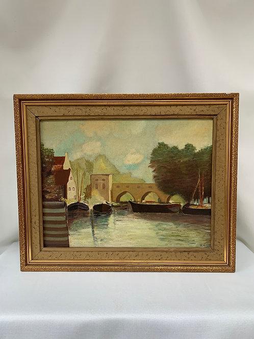 Framed, 20th Century Oil Paitning