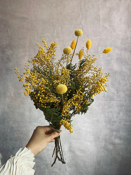 Mimosa Dried flower bouquet  (order by March 5th)