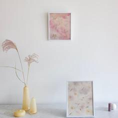 Flower Dye Art with  Pressed Flowers