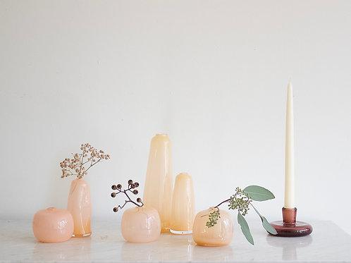 Little Gem Vase (Cream Peach) + dried flowers
